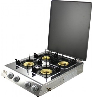 Gas stove 4 burner with Lid -  NGB 400C