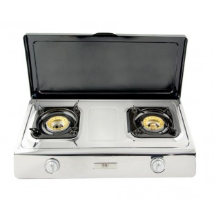 Gas stove 2 burner with Lid -  NGB 200C