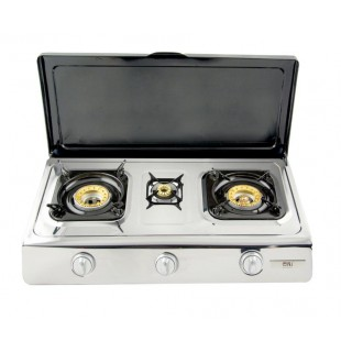 Gas stove 3 burner with Lid -  NGB 300C