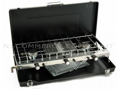 Foldable gas stove with grill - FS 430